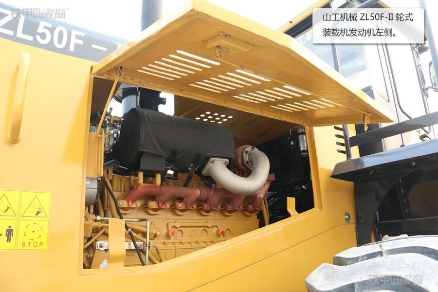 操作简单且耐用山工技巧ZL5050F装载机图赏_铁平面模特机械图片