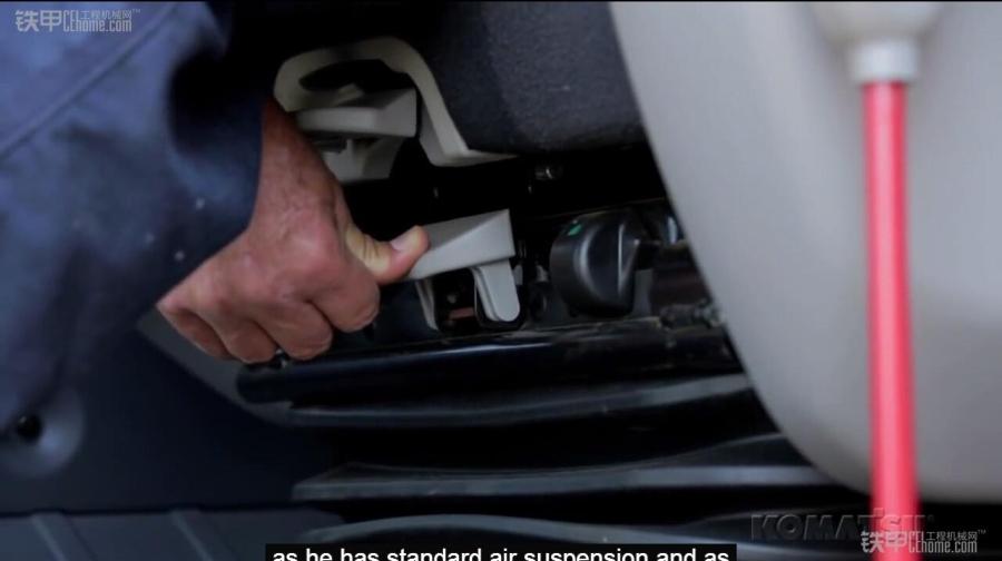 小松pc210lc-10挖掘机所安装的空气悬浮式减振座椅,当气囊被充满气体图片
