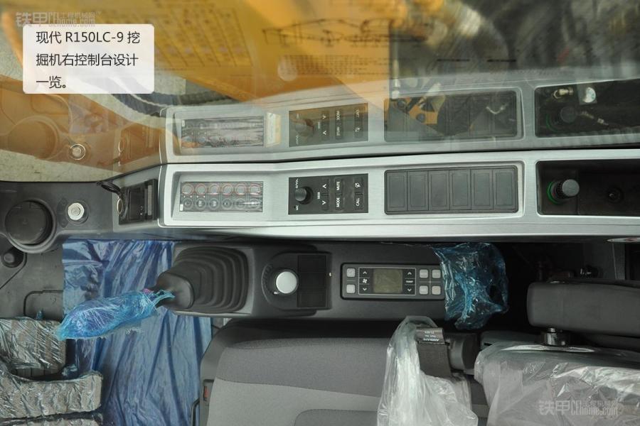 现代r150lc-9挖掘机空调压缩机,柴滤,燃油泵设计,柴滤更容易维修保养
