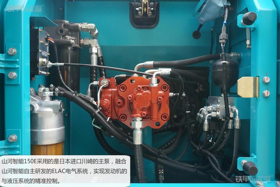 山河智能swe150e液压挖掘机在大臂油缸连接处都有