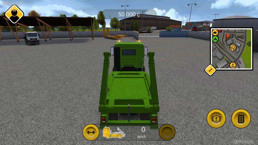 手机上的挖掘机游戏 建筑模拟2014试玩