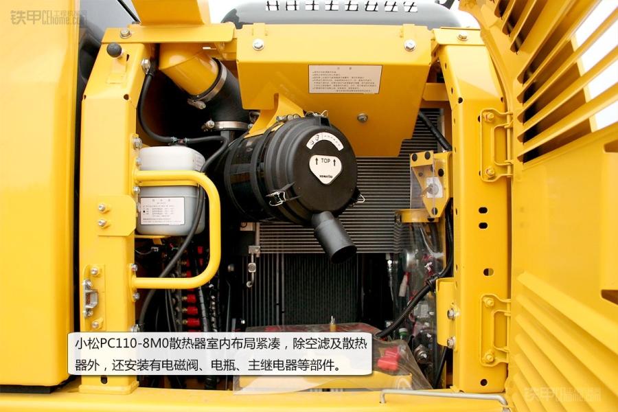 """小松pc110-8m0驾驶室内部结构与""""-8""""基本保持一致"""