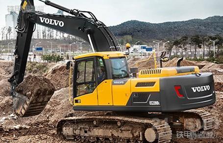 沃尔沃ec220d挖机实现燃油效率和生产率