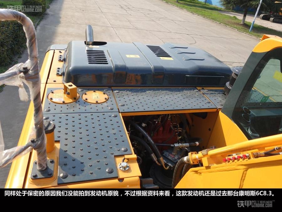 现代275lc-9v液压挖掘机机身具备四只工作照明灯