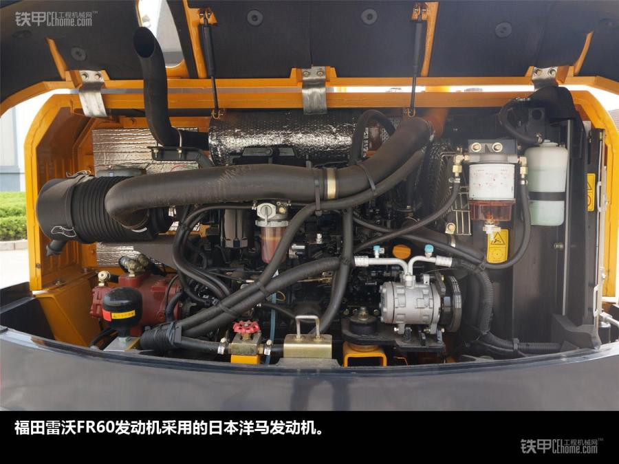 福田雷沃fr60空调压缩机特写
