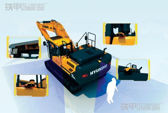 现代推出hx系列挖机 更注重高端舒适图片