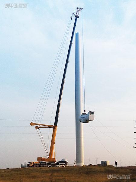 徐工qay650起重机助力风电吊装显奇功高清图片