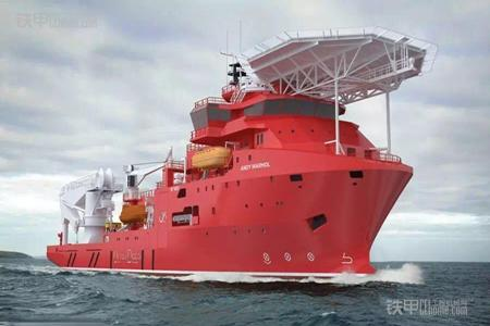 青岛武船mt6023深潜水工作支持船开工