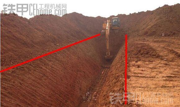 挖掘机10大高难度技术(4)——挖沟技巧(图5)