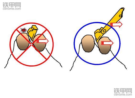 挖掘机禁止操作(1):这四种做法很伤挖斗!(图2)