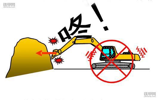 挖掘机禁止操作(2):行走作业的尺度不要太大了!(图3)