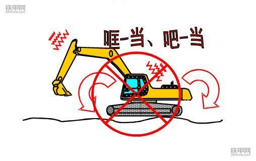 挖掘机禁止操作(3):这四种方式作业很伤挖机!(图1)