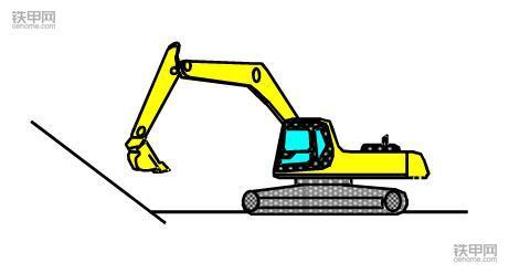 挖掘机正确操作(1):如何撑地上坡?(图1)