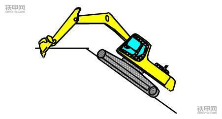 挖掘机正确操作(1):如何撑地上坡?(图8)