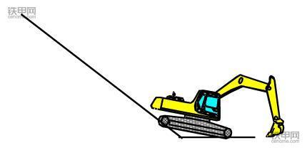 挖掘机正确操作(2):六步秒懂下坡作业(图5)