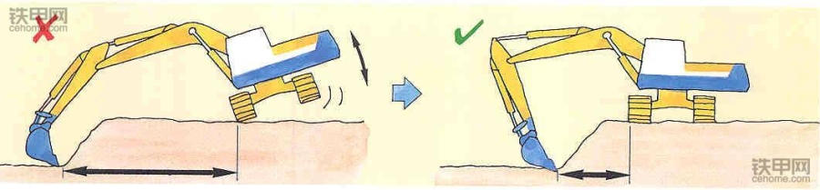 老司机教你开挖机:挖掘作业技巧有哪些?(图9)