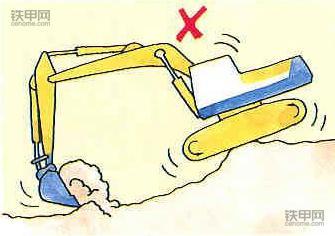 老司机教你开挖机:挖掘作业技巧有哪些?(图4)